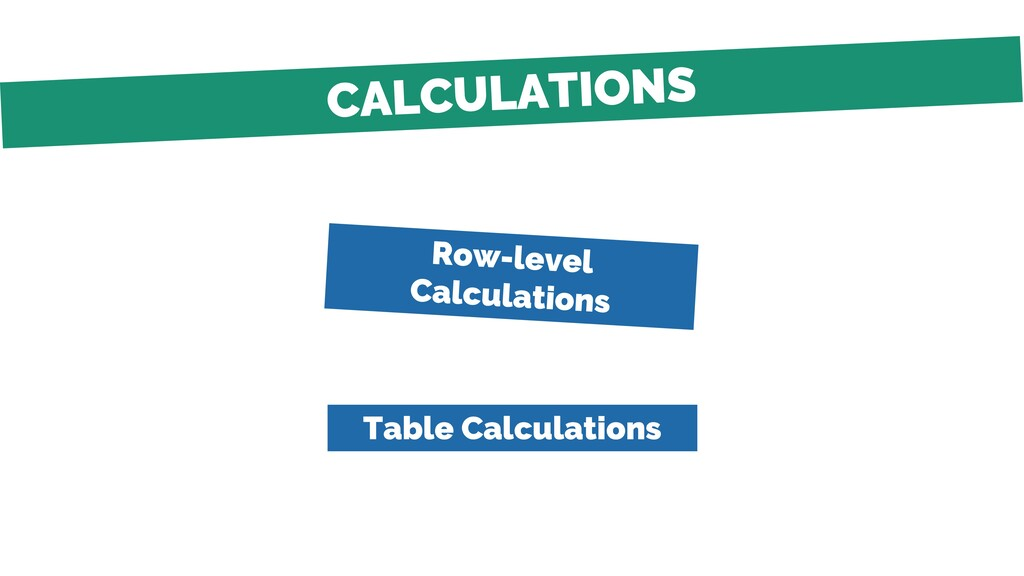 Table Calculations