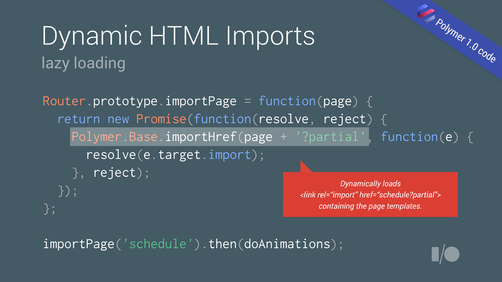Dynamic HTML Imports Router.prototype.importPag...