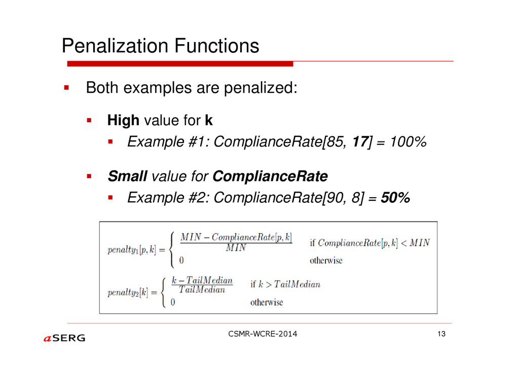 Penalization Functions 13 Both examples are pen...