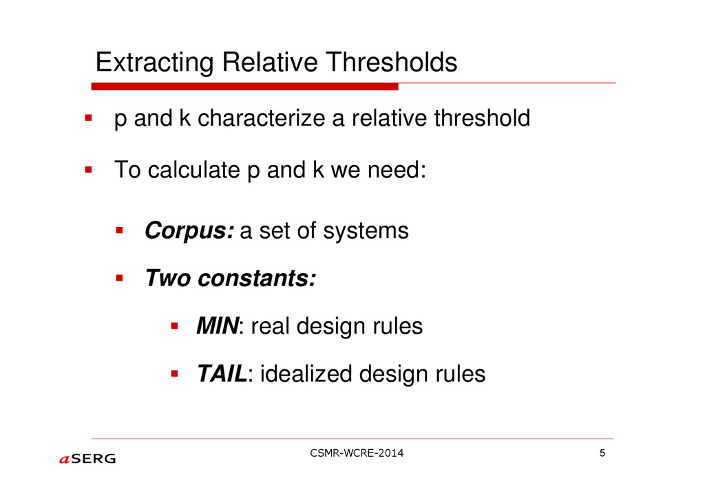 p and k characterize a relative threshold To ca...