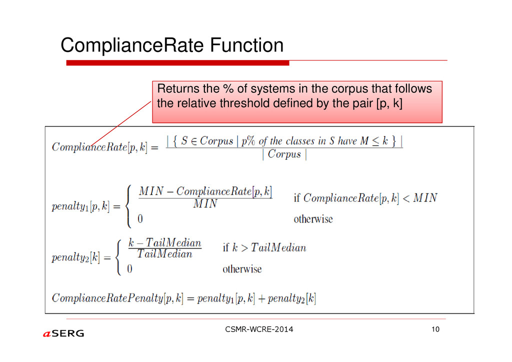 ComplianceRate Function 10 Returns the % of sys...
