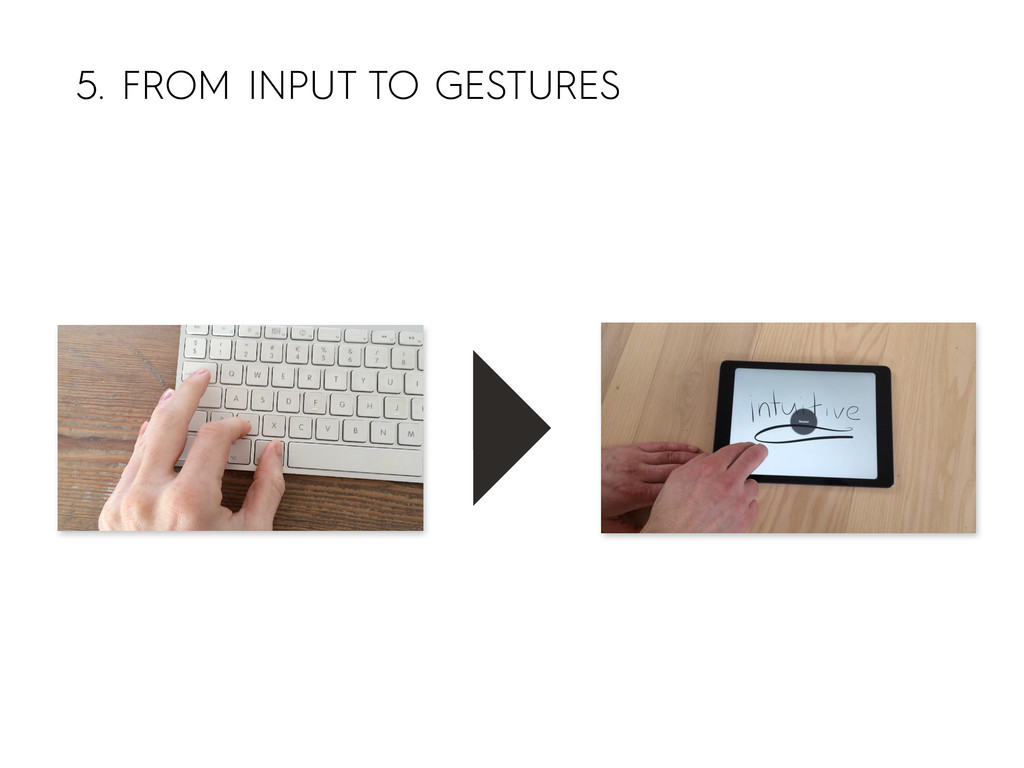 5. FROM INPUT TO GESTURES