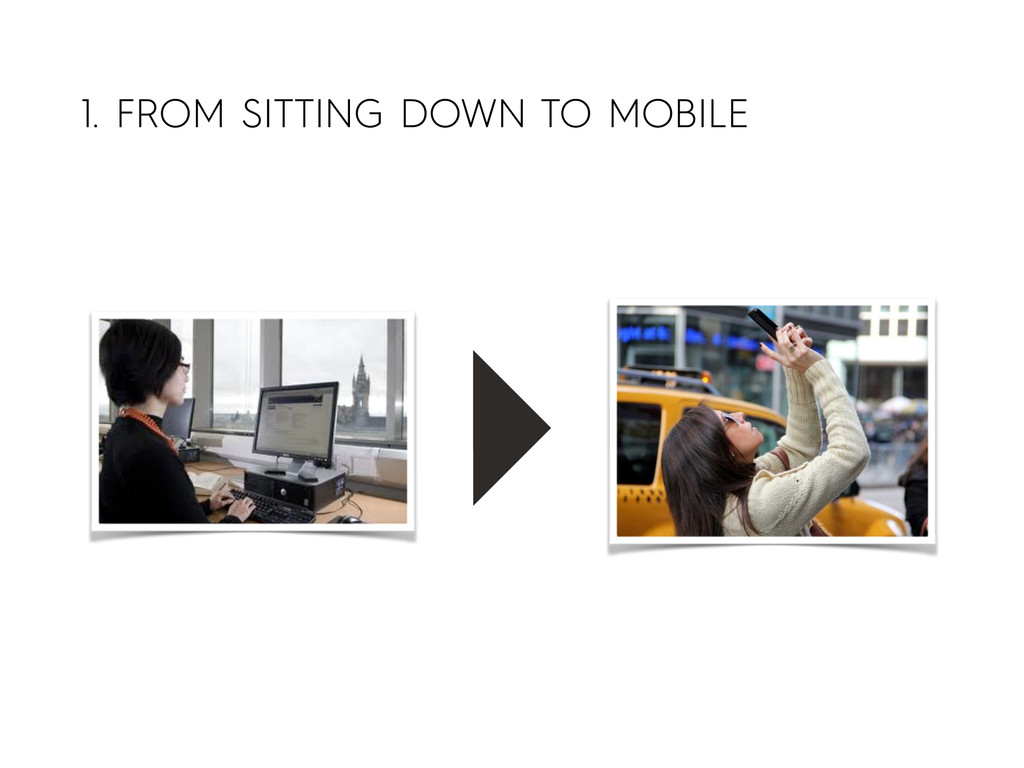 1. FROM SITTING DOWN TO MOBILE