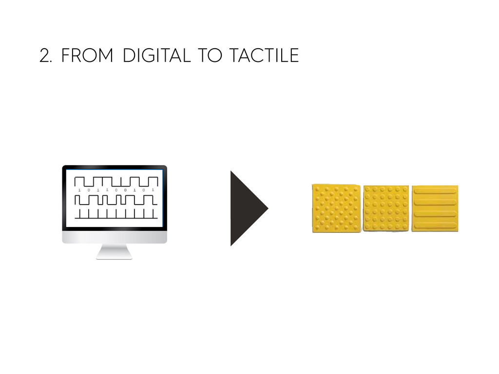 2. FROM DIGITAL TO TACTILE