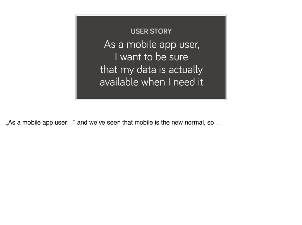 As a mobile app user, I want to be sure that my...