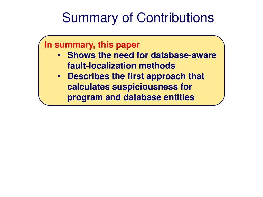 Summary of Contributions In summary, this paper...
