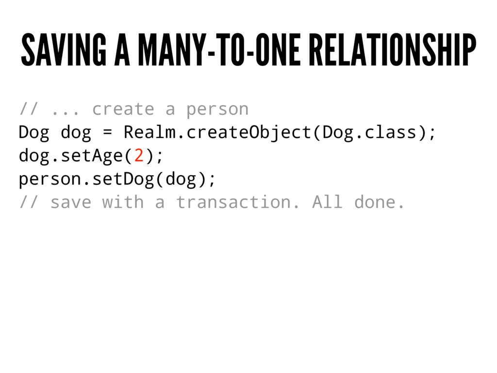 SAVING A MANY-TO-ONE RELATIONSHIP // ... create...
