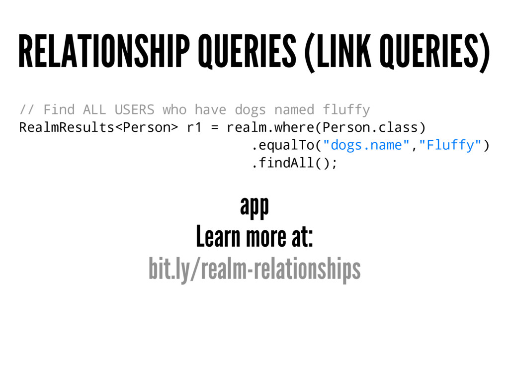 RELATIONSHIP QUERIES (LINK QUERIES) // Find ALL...