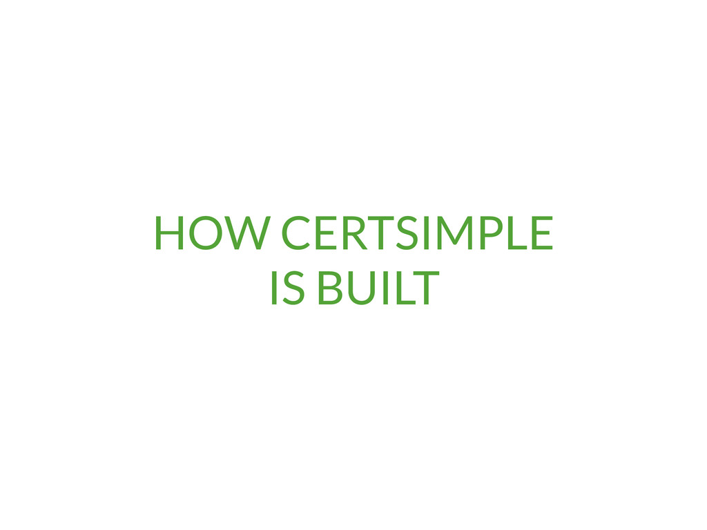 HOW CERTSIMPLE 