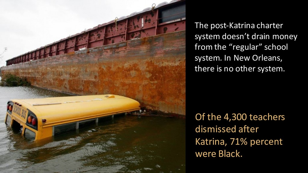 The post-Katrina charter system doesn't drain m...