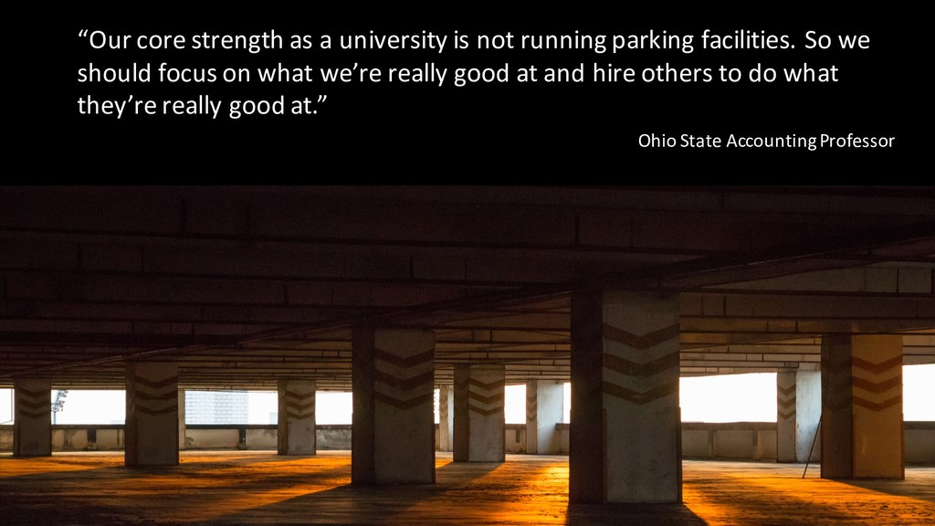 """Our core strength as a university is not runni..."