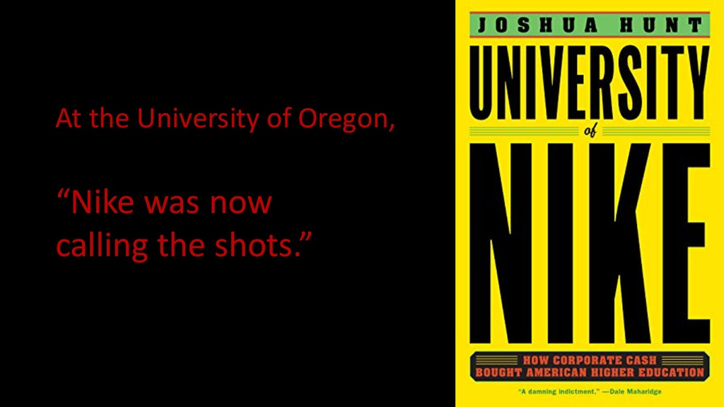"At the University of Oregon, ""Nike was now call..."