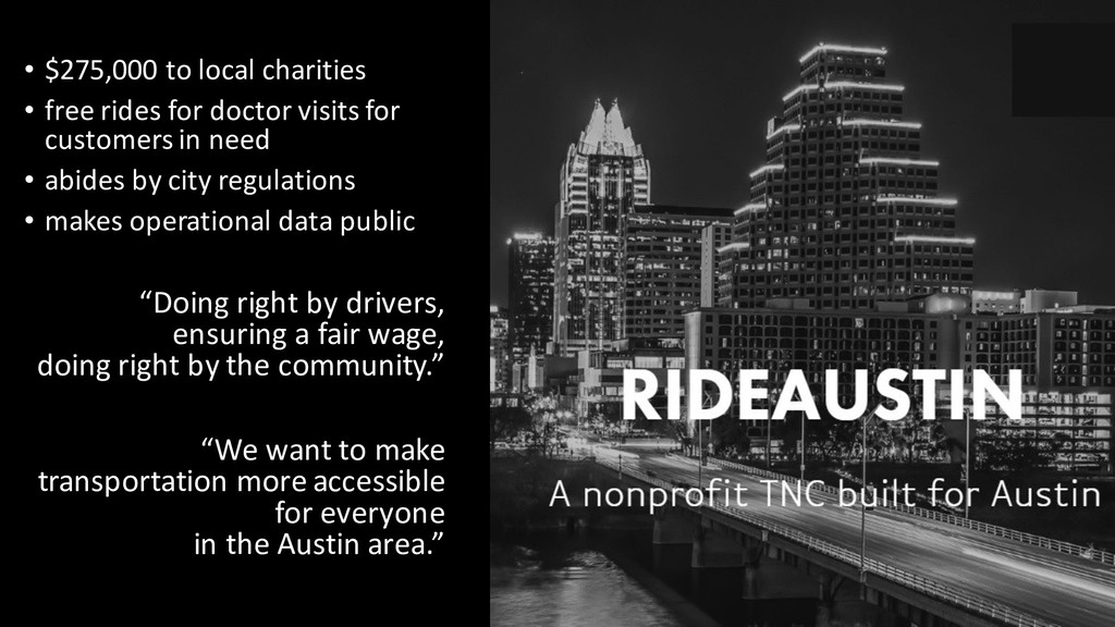 • $275,000 to local charities • free rides for ...