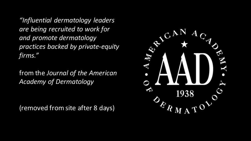 """Influential dermatology leaders are being recr..."