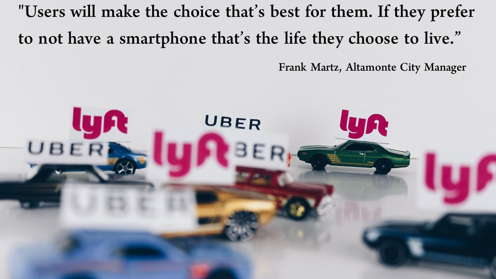 """Users will make the choice that's best for the..."