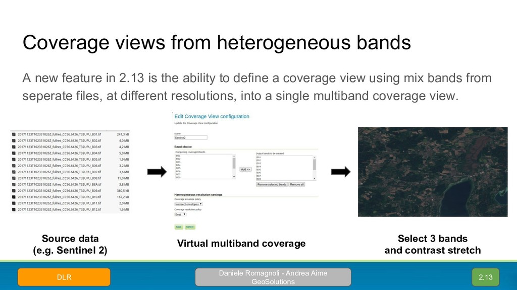 Coverage views from heterogeneous bands 2.13 So...
