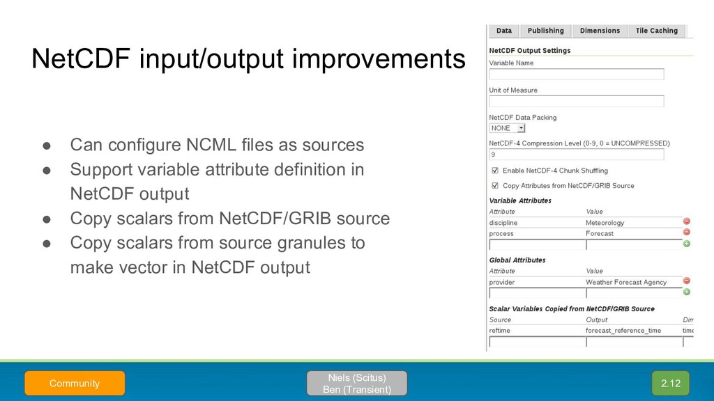 NetCDF input/output improvements 2.12 Niels (Sc...
