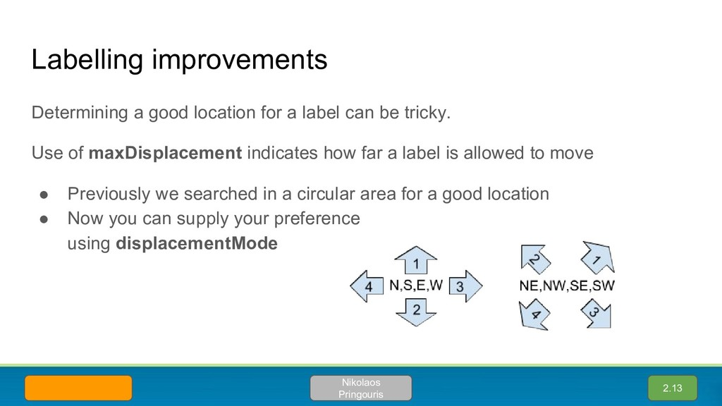 Determining a good location for a label can be ...