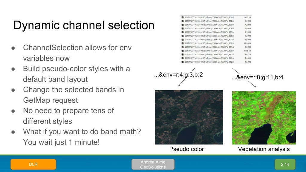 ● ChannelSelection allows for env variables now...