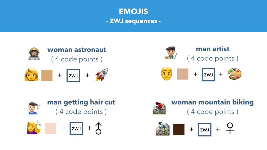 EMOJIS - ZWJ sequences - woman astronaut ( 4 co...
