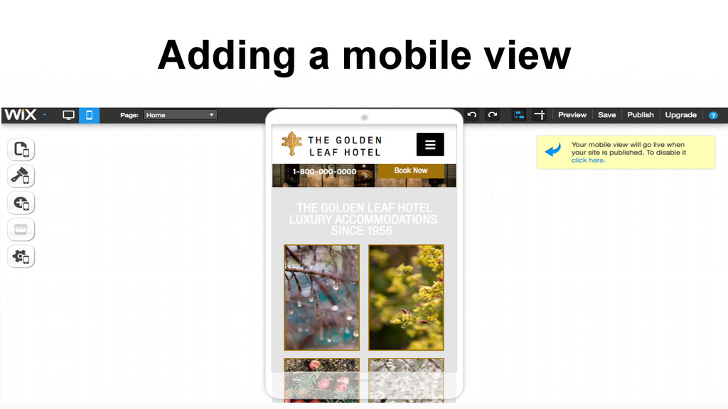 Adding a mobile view