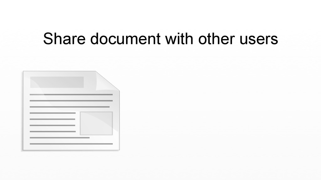 Share document with other users