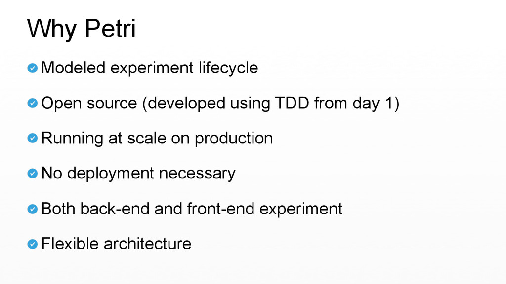 Modeled experiment lifecycle  Open source (dev...