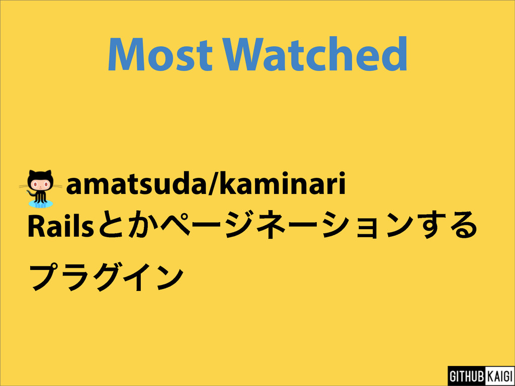 Most Watched amatsuda/kaminari Railsͱ͔ϖʔδωʔγϣϯ͢...