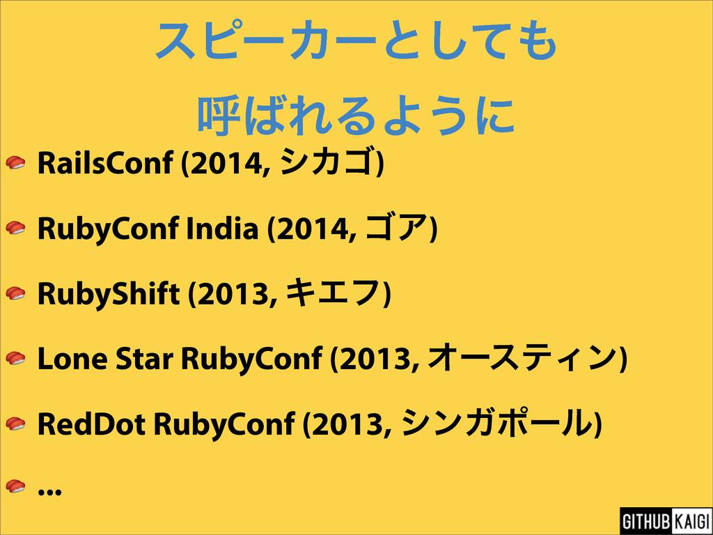 εϐʔΧʔͱͯ͠ ݺΕΔΑ͏ʹ  RailsConf (2014, γΧΰ)  RubyC...