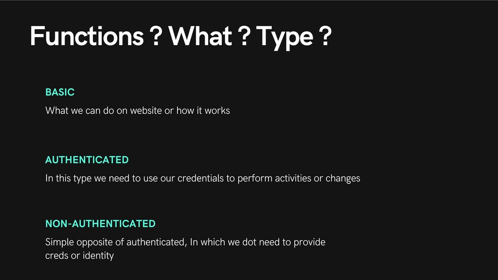 Functions ? What ? Type ? BASIC What we can do ...