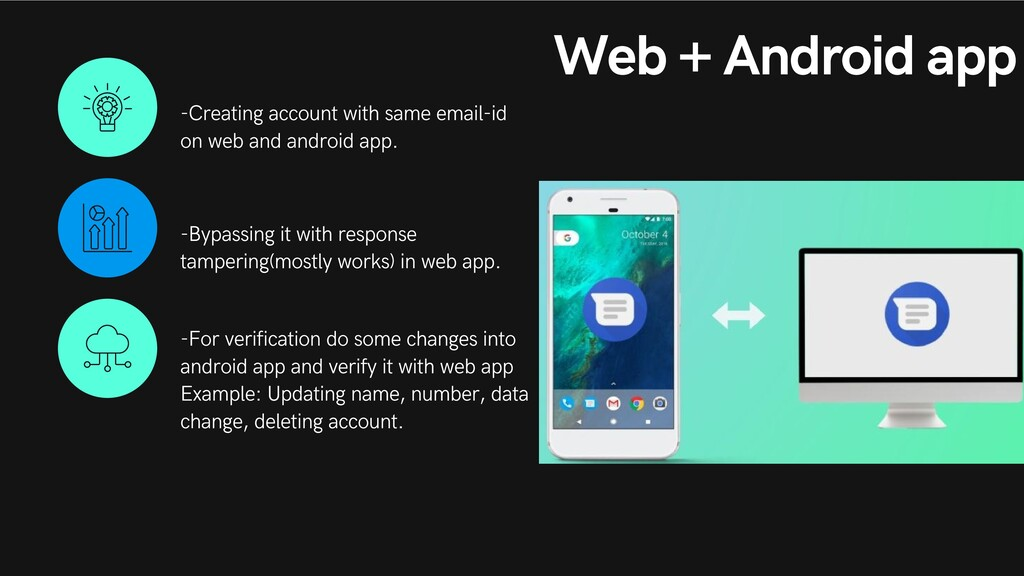 Web + Android app -Creating account with same e...
