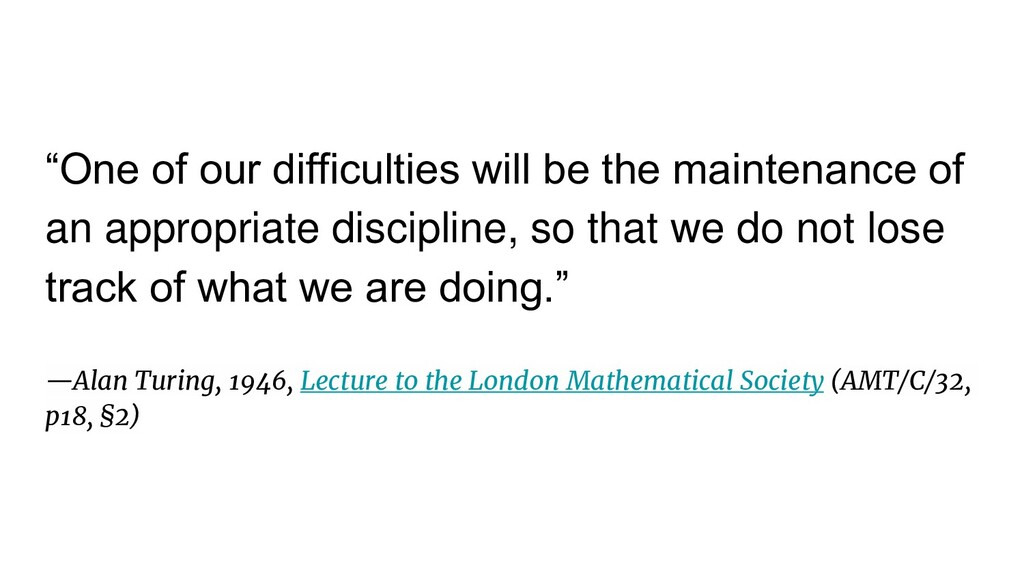 """One of our difficulties will be the maintenanc..."