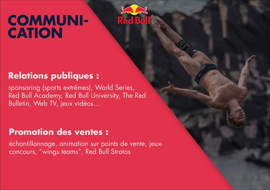 ! ! Relations publiques : ! sponsoring (sports ...