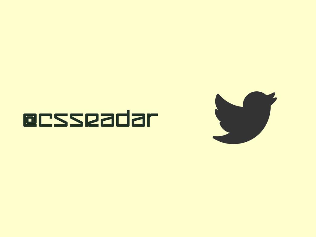  @CSSRadar