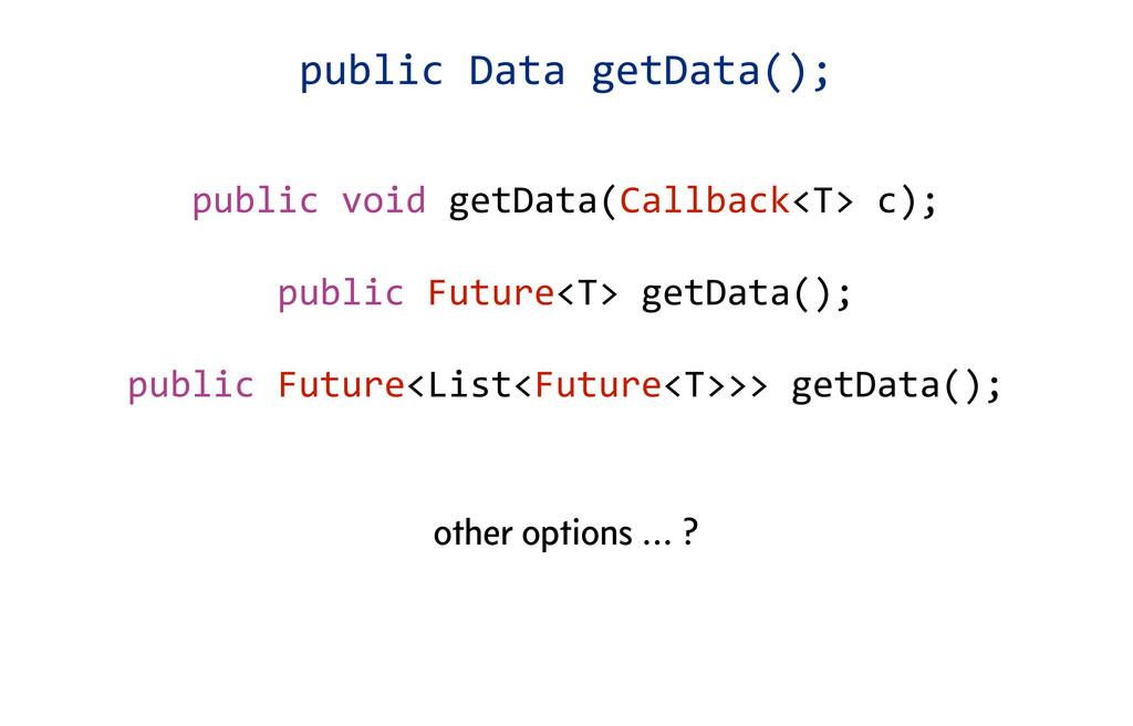 public void getData(Callback<T> c); pu...