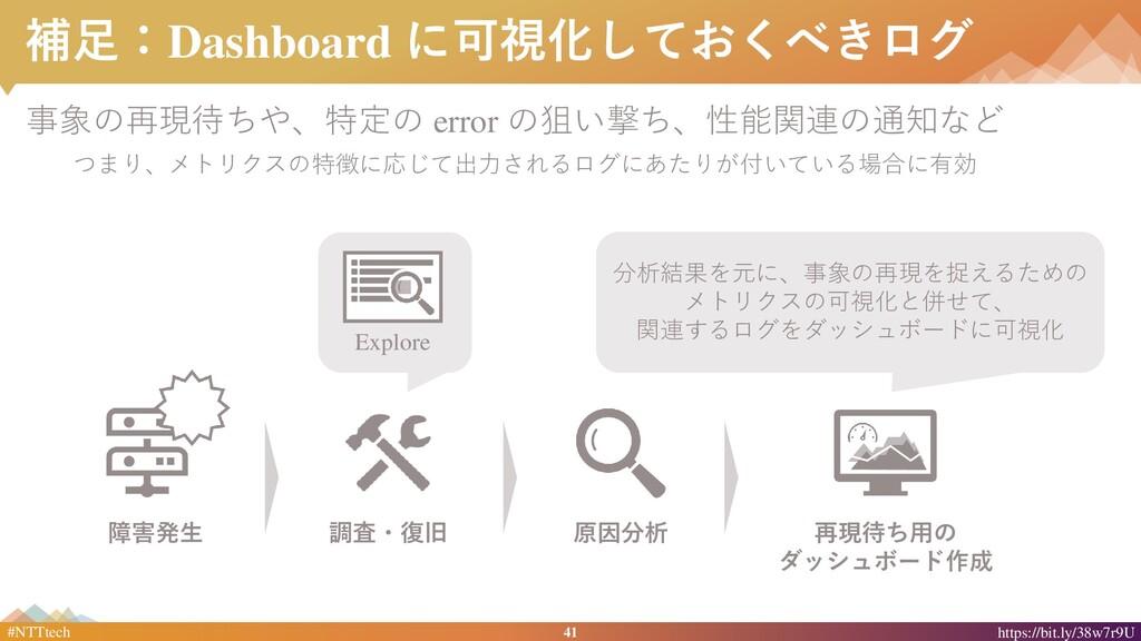 41 #NTTtech https://bit.ly/38w7r9U 補足:Dashboard...