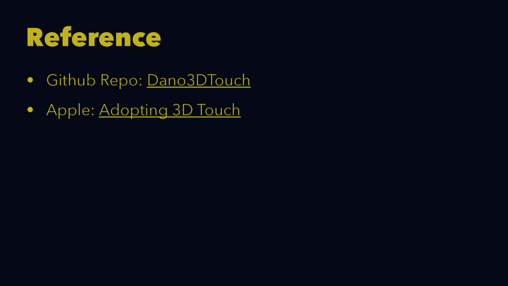 Reference • Github Repo: Dano3DTouch • Apple: A...