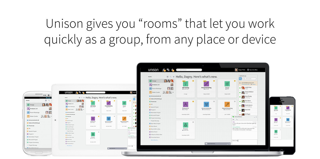 "Unison gives you ""rooms"" that let you work quic..."