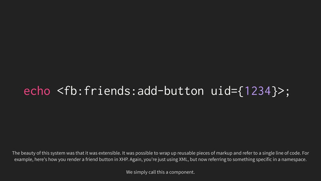 echo <fb:friends:add-button uid={1234}>; The be...