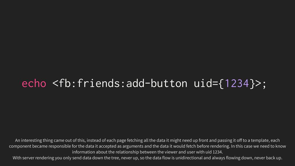 echo <fb:friends:add-button uid={1234}>; An int...