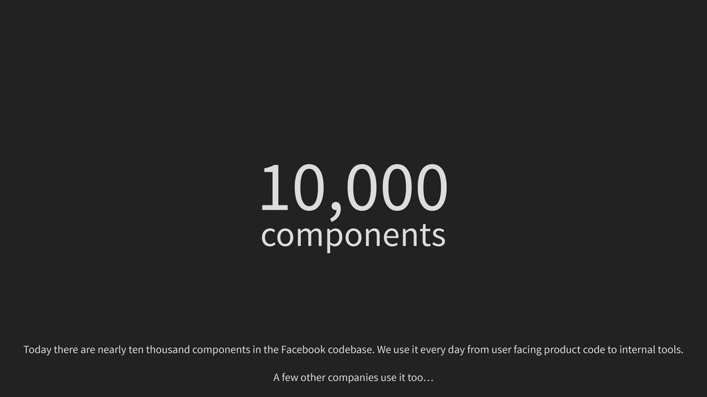 10,000 components Today there are nearly ten th...