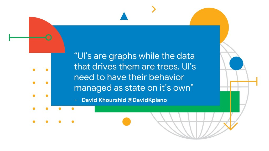 """""""UI's are graphs while the data that drives the..."""
