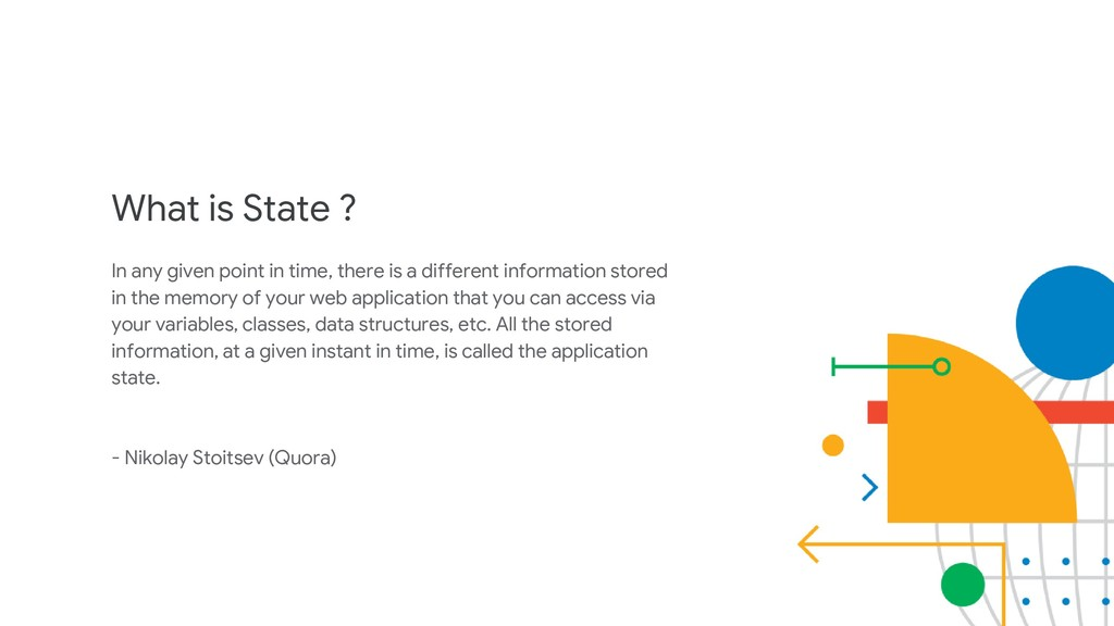 What is State ? In any given point in time, the...
