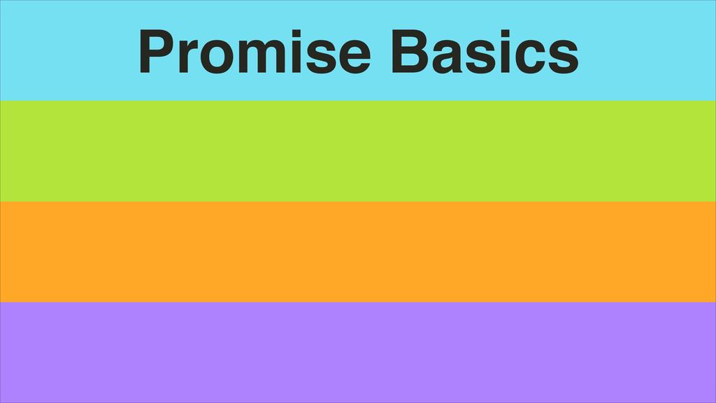 Promise Basics