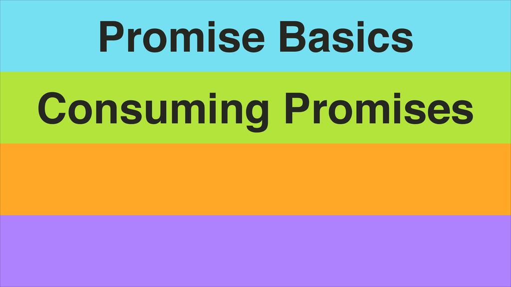 Promise Basics Consuming Promises