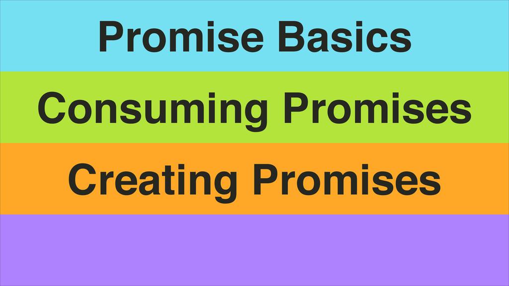 Promise Basics Consuming Promises Creating Prom...