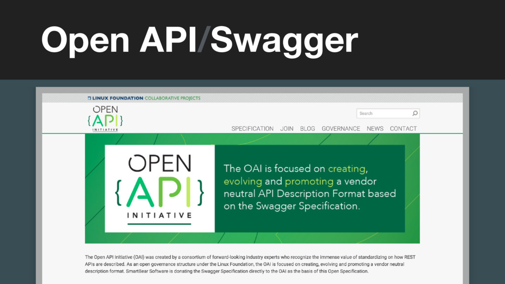 (without introducing more risk) Open API/Swagger
