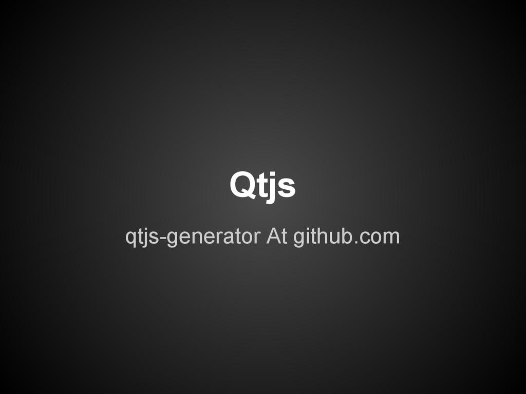 Qtjs qtjs-generator At github.com
