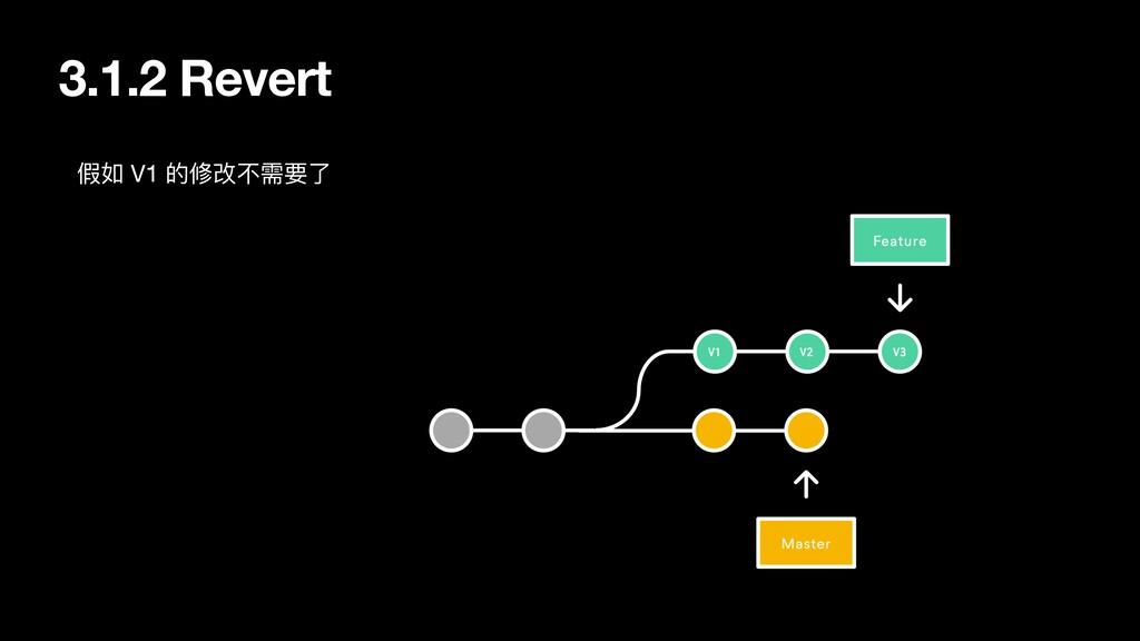 3.1.2 Revert 假如 V1 的修改不需要了