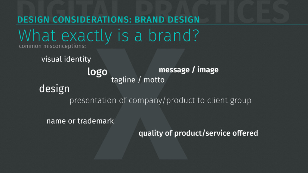 DIGITAL PRACTICES DESIGN CONSIDERATIONS: BRAND ...